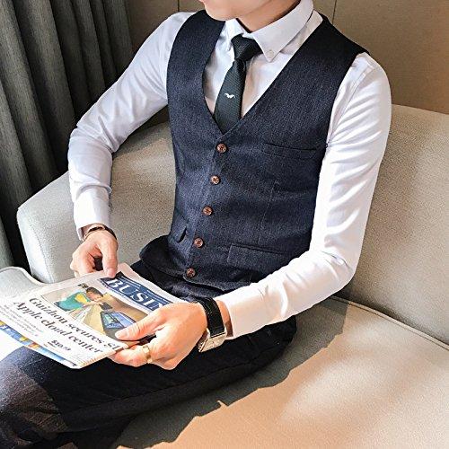 Männer im Anzug - Weste, die den Streifen Weste, selbst gebildete Junge im Anzug, Weste,schwarz,3XL