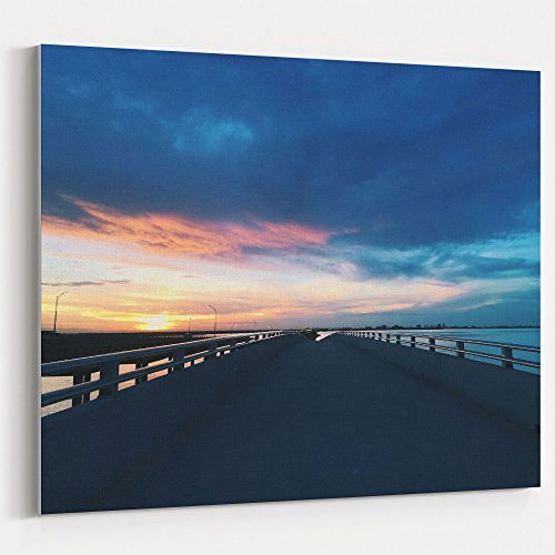 14 Bay Disk - Westlake Art - Water Sunrise - 11x14 Canvas Print Wall Art - Canvas Stretched Gallery Wrap Modern Picture Photography Artwork - Ready to Hang 11x14 Inch