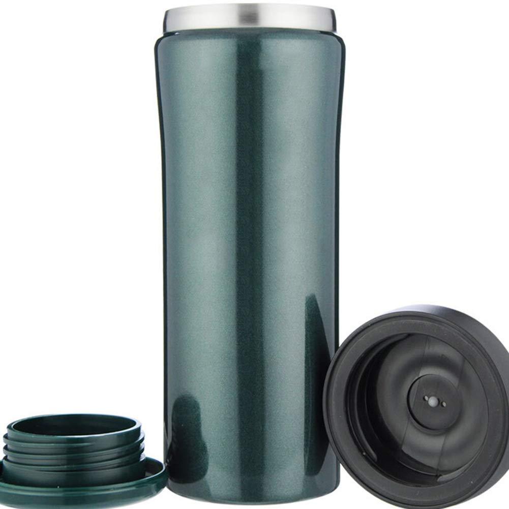 Sportflasche Thermo Isolier Becher Thermo Sportflasche Becher Travel Mug Kaffeebecher Wasserflasche Trinkbehälter Trinkflaschen-Ultraleichter Sport Und Bequeme Tragfähigkeit JINRONG (Farbe   Beige CG, größe   450ml) 944de2