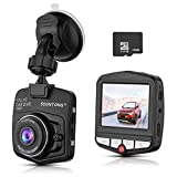 ssontong Dash Cam, Mini Car Dashboard Camera, Full HD 1080P 2.31″ Screen 140 Degree Wide Angle Lens Vehicle On-Dash Video Recorder with G-Sensor,Parking Monitoring,Recording and 16GB SD Card Included