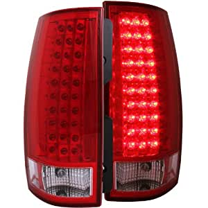 Anzo USA 311082 Cadillac/Chevrolet/GMC Red/Clear (Gen 3) LED Tail Light Assembly - (Sold in Pairs)