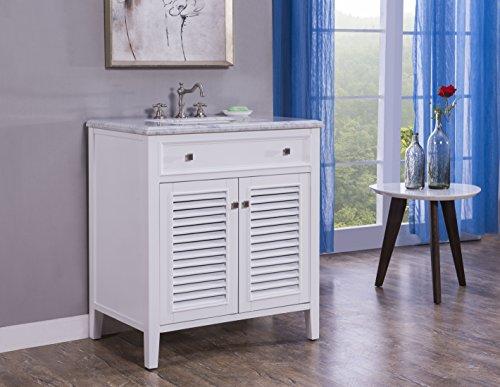 32-Inch Cottage Style Double Sink Bathroom Vanity Model 3328-32 W ()