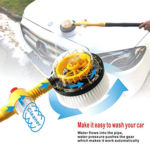 Uanlauo Car Wash Brush,automotive cleaning Non-Electric Automatic 360...