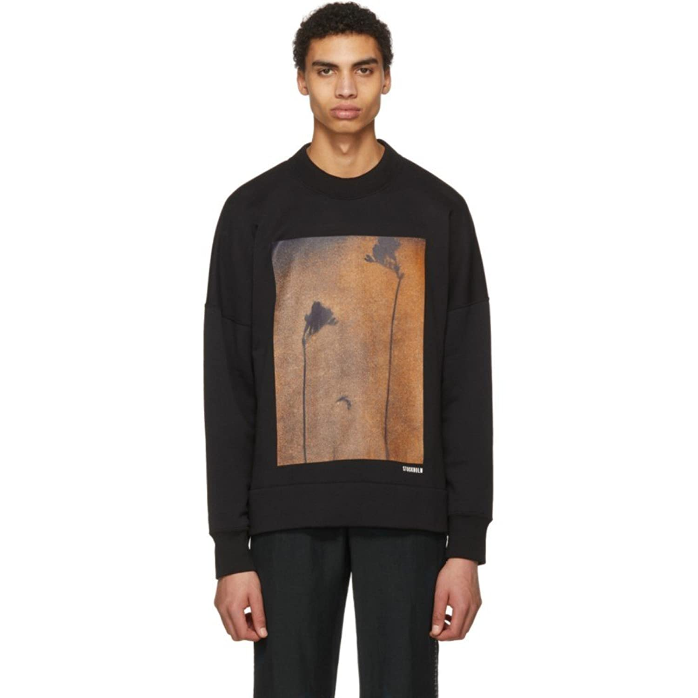 (アクネ ストゥディオズ) Acne Studios メンズ トップス スウェットトレーナー Black Folke Print Sweatshirt [並行輸入品] B07D14M7LC XX-Small