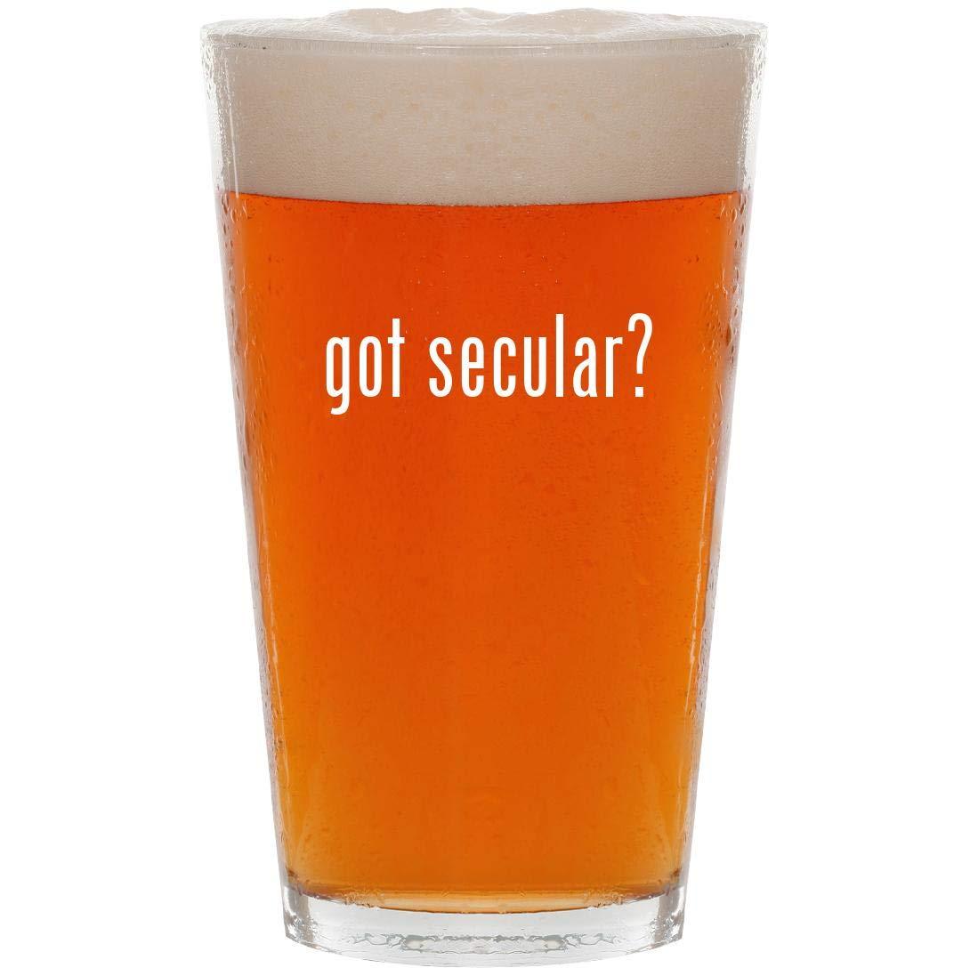 got secular? - 16oz Pint Beer Glass