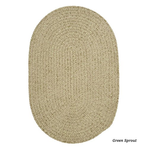 Oval Sprout Green (Spring Meadow Sprout Green 4ft x 6ft)