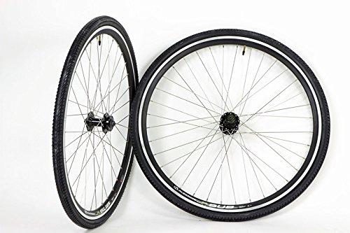 700c Alex Sub Disc Brake Rim Brake Hybrid Touring Bike Wheel Set with 700 x 38 Tires and Tubes