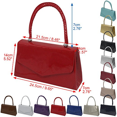 Classic Envelope Desgin Red Purple Ladies Wedding Cckuu Purse Handbag Handle Evening Clutch Party tqI5PnAw