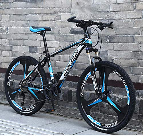 ZTYD 26″ 24-Speed Mountain Bike for Adult, Lightweight Aluminum Full Suspension Frame, Suspension Fork, Disc Brake,B2,24Speed