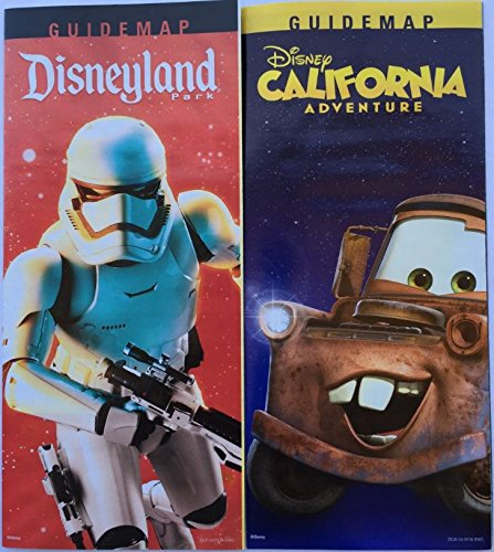 Official 2016 Disneyland and California Adventures Park Maps. Storm Trooper and Tow Mater - And Disneyland California Adventure