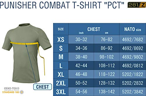 eee5e9df 281Z Military Stretch Cotton Underwear T-Shirt - Tactical Hiking Outdoor -  Punisher Combat Line