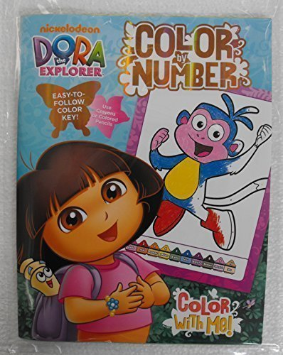 Dora The Explorer Color By Number Coloring Book