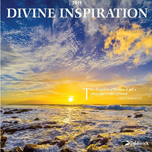 2019 Large Wall Calendar -Divine Inspiration by Goldistock - 12 x 24 (Open) - Thick & Sturdy Paper - Inspiring Spiritual Quotes & Beautiful Photography
