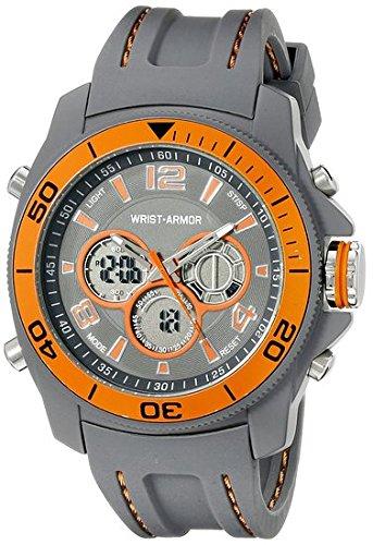 Wrist Armor Men 's 37600004 Wrist Armorアナログデジタル表示クォーツグレーウォッチ B00VWZIQKI