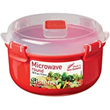 Sistema Microwave Cookware Bowl, Round, 30.9 Ounce/ 3.8 Cup, Red
