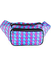 SoJourner Bags 80's Neon Fanny Pack (Blue and Pink)