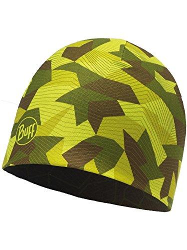 Reversible Mircofibre Hat Buff - Block Camo Green - Adult One - Knit Block Reversible Beanie