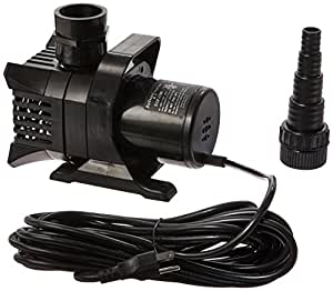 Maxflo 1200 gph pond and waterfall pump for water for Aquagarden 1200 pond pump