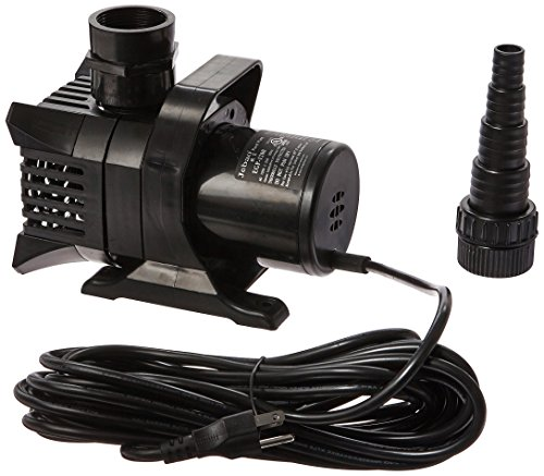 - Algreen Products MaxFlo 5000 to 1200 GPH Pond and Waterfall Pump for Gardening