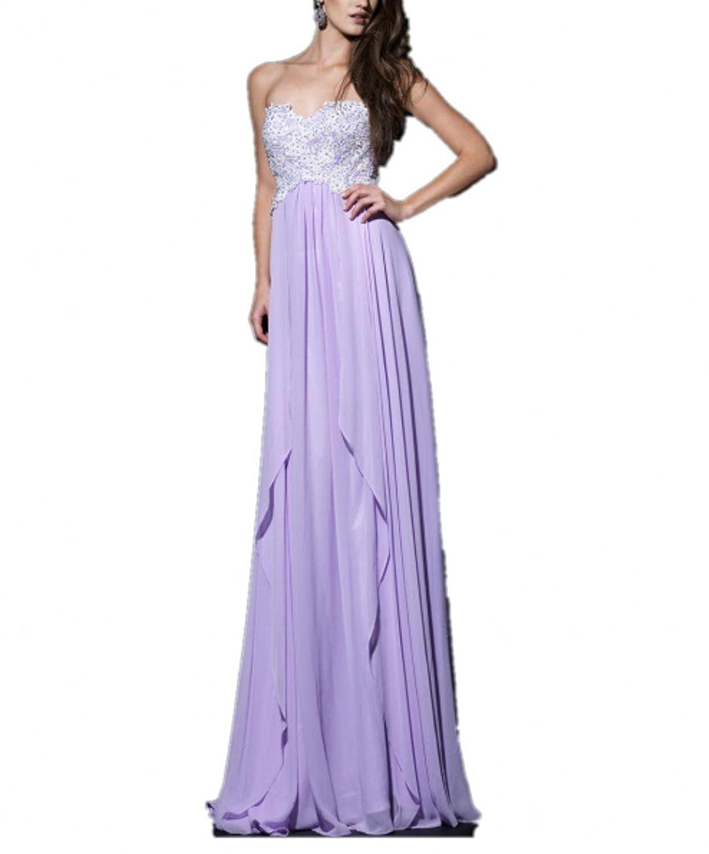 Royaldress Blau Elegant Spitze Chiffon Damen Abendkleider ...