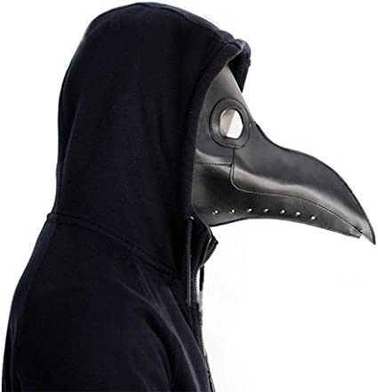 Plague Doctor Mask Birds Long Nose Faux Leather Steampunk Halloween Mask