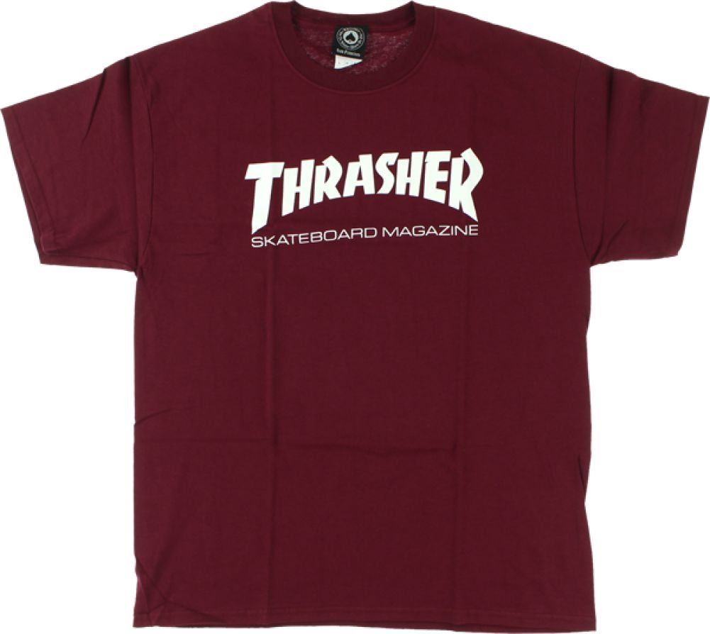 8ca7c8e6894 Amazon.com   Thrasher Magazine Skate Mag Maroon Men s Short Sleeve T-Shirt  - Large   Sports   Outdoors