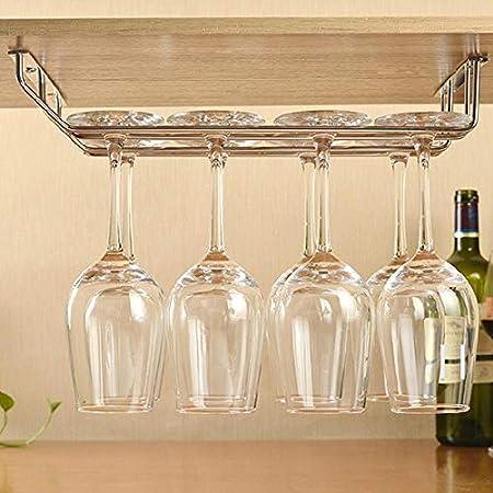 KUMOPYU 1 Pieza De Moda De Acero Inoxidable Copa De Vino Copa De Vino Soporte De Copa De Vino De Moda Soporte De Taza De Doble Fila Vinotecas Copas De Vino botellero Estante De Vino Botellas De Vino