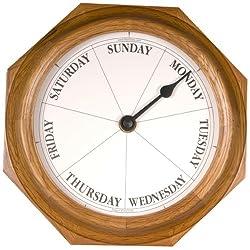 DayClocks Classic Day of The Week Fun Retirement Gift-Oak Wall Clock, 9.5