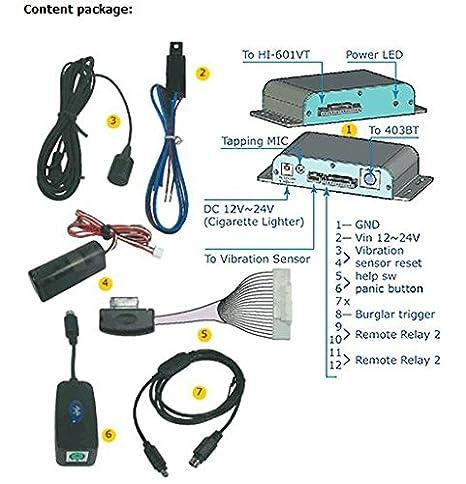 Kit coche para localizador Tracker GPS GSM - Antirrobo satélite: Amazon.es: Electrónica