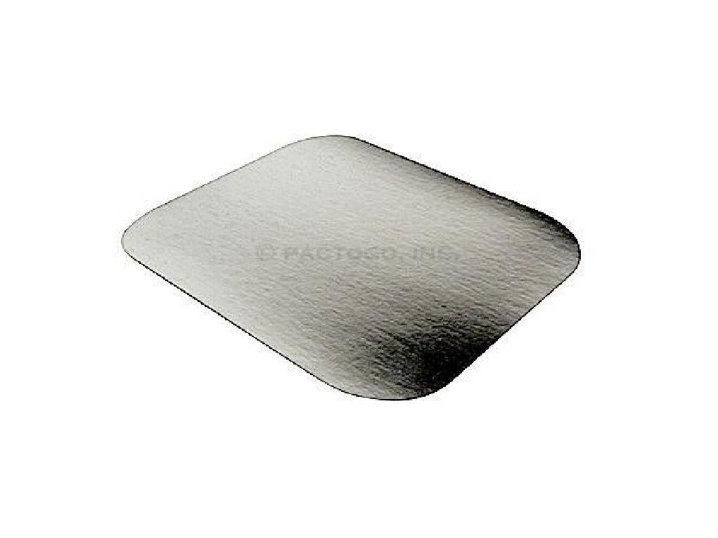 Foil Laminated Board Lid for 1 lb. Oblong Aluminum Containers 500/PK - LIDS ONLY