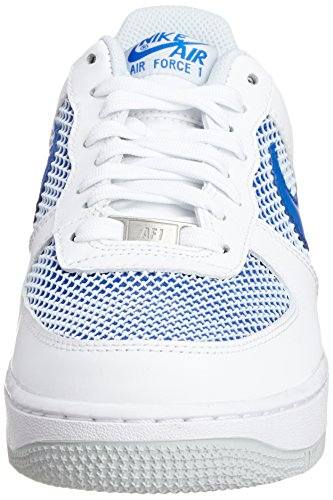 Nike Herren Air Force 1 '07 LV8 Mode Schuhe Licht Armoury Blau / Weiß / Schwarz Weiß / reines Platin / Hyper Cobalt