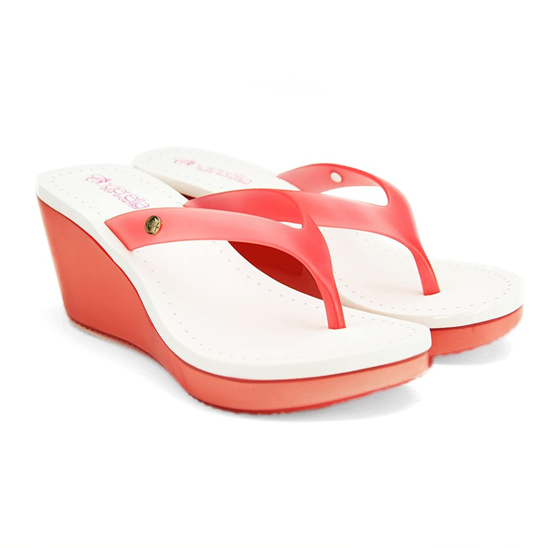 Chemistry® JELLY Womens Sandal Toe t Strap High Heels Jelly Shoes Sandal High Platform Wedge Pump Sandals Red B01BJOMEWC 8 B(M) US