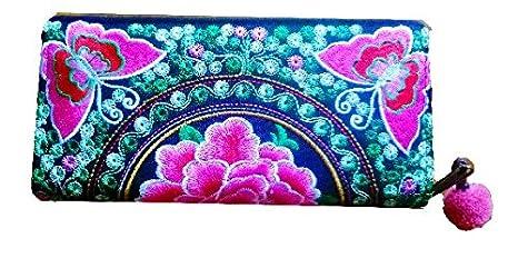 Nueva moda tailandés hecho a mano cartera Hmong hill tribe ...