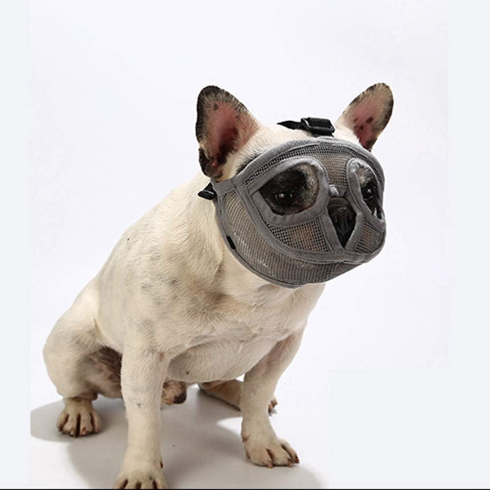 Mops auch f/ür Katzen geeignet. PETEMOO Maulkorb f/ür Hunde mit abgeflachter Schnauze-verstellbar atmungsaktiv: Englische Bulldogge Pekingese Franz/ösische Bulldogge Shih-Tzu