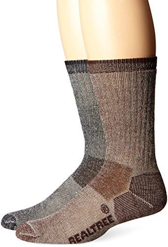 realtree-ap-mens-merino-wool-boot-socks-2-pair-brown-black-large