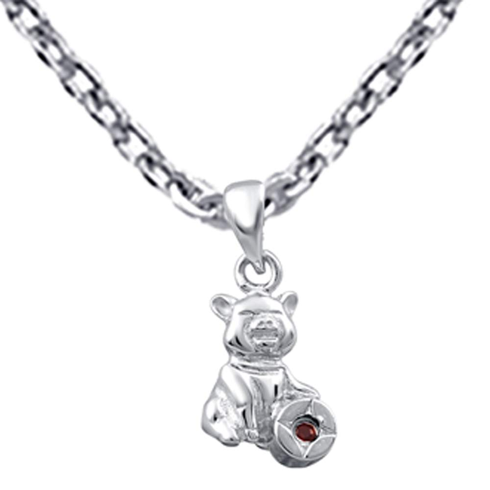 A Lovely Long Chain Pendant Necklace Set For Women A Vintage Vibe Orchid Jewelry 0.02 Ctw Natural Round Red Garnet Sterling Silver Pendant Necklace With an 18 Inch Chain