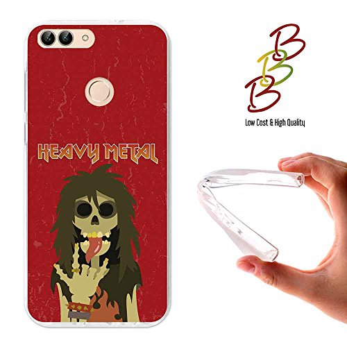 Huawei P Smart Cover Gel Flexible, TPU Case made out of the best Silicone, protects and adapts flawlessly to your Smartphone, together with our exclusive designs Becool - Old rockers never die. - Exclusive Die