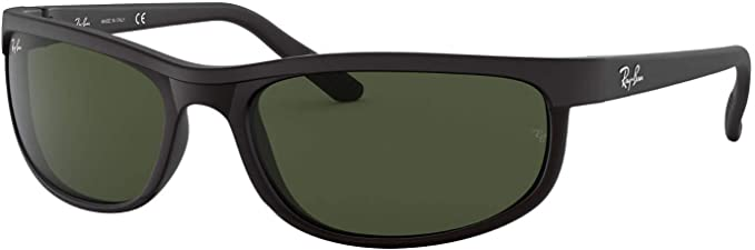 Ray Ban RB2027 Predator 2 Sunglasses Matte Black wCrystal Green (W1847) 2027 W1847 62mm Authentic
