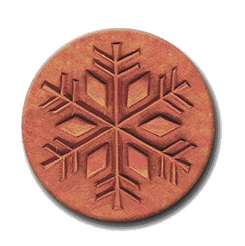 RYCRAFT 2 Round Cookie Stamp with Handle /& Recipe Booklet-snow star