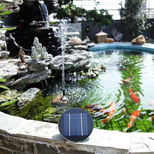 - Leoie Solar Fountain 9V 3W Round Shape Water Pump