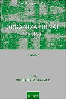 Book Organizational Trust: A Reader (Oxford Management Readers)