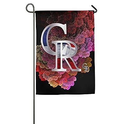 QingXING Colorado Rockies Platinum Logo Garden Flag