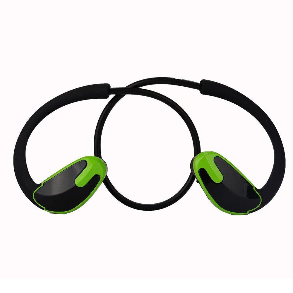 Wulidasheng ワイヤレスBluetoothヘッドホン ワイヤレス Bluetooth ヘッドセット 防汗 スポーツ ランニング ステレオ ヘッドフォン イヤホン - ブラック+レッド Wulidasheng  ブラック+グリーン B07PW43KJF