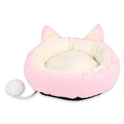 FOONEE Cama para Mascotas para Gatos Perros Redondo Donut Gato y Perro cojín Cama con cojín