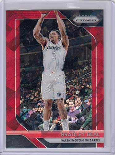 2018-19 Panini Prizm Red Cracked Ice #233 Bradley Beal #233 NM Near Mint