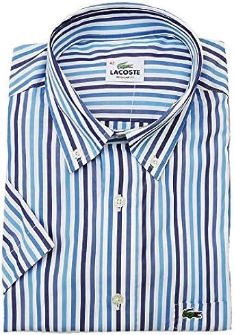 Camisa Lacoste VERNIS 6086 Azul - Color - AZUL, Talla - 40 ...