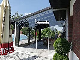 Cubierta de lona y PVC para terrazas y patios, protección contra ...