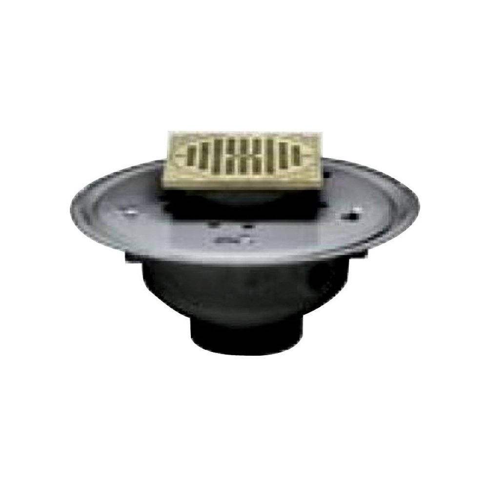Oatey 82106 ABS Adjustable Commercial Drain with 5-Inch CHR Grate and Square Ring, 6-Inch 30%OFF