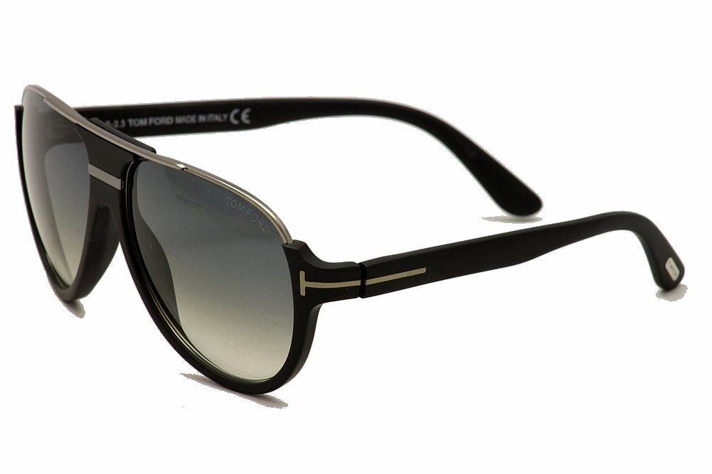 Tom Ford 0334S 02W Black and Silver Dimitry Aviator Sunglasses Lens Category 3