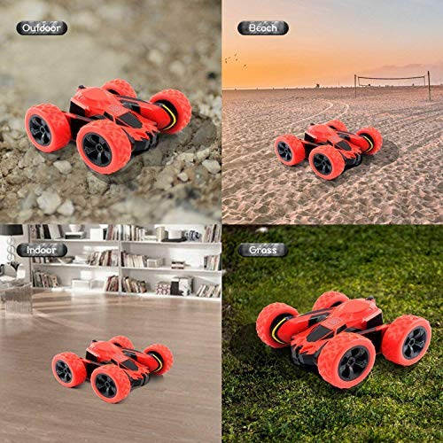 RC Cars Stunt Car Toy, Amicool 4WD 2.4Ghz Remote Control Car Double Sided Rotating Vehicles 360° Flips, Kids Toy Cars…
